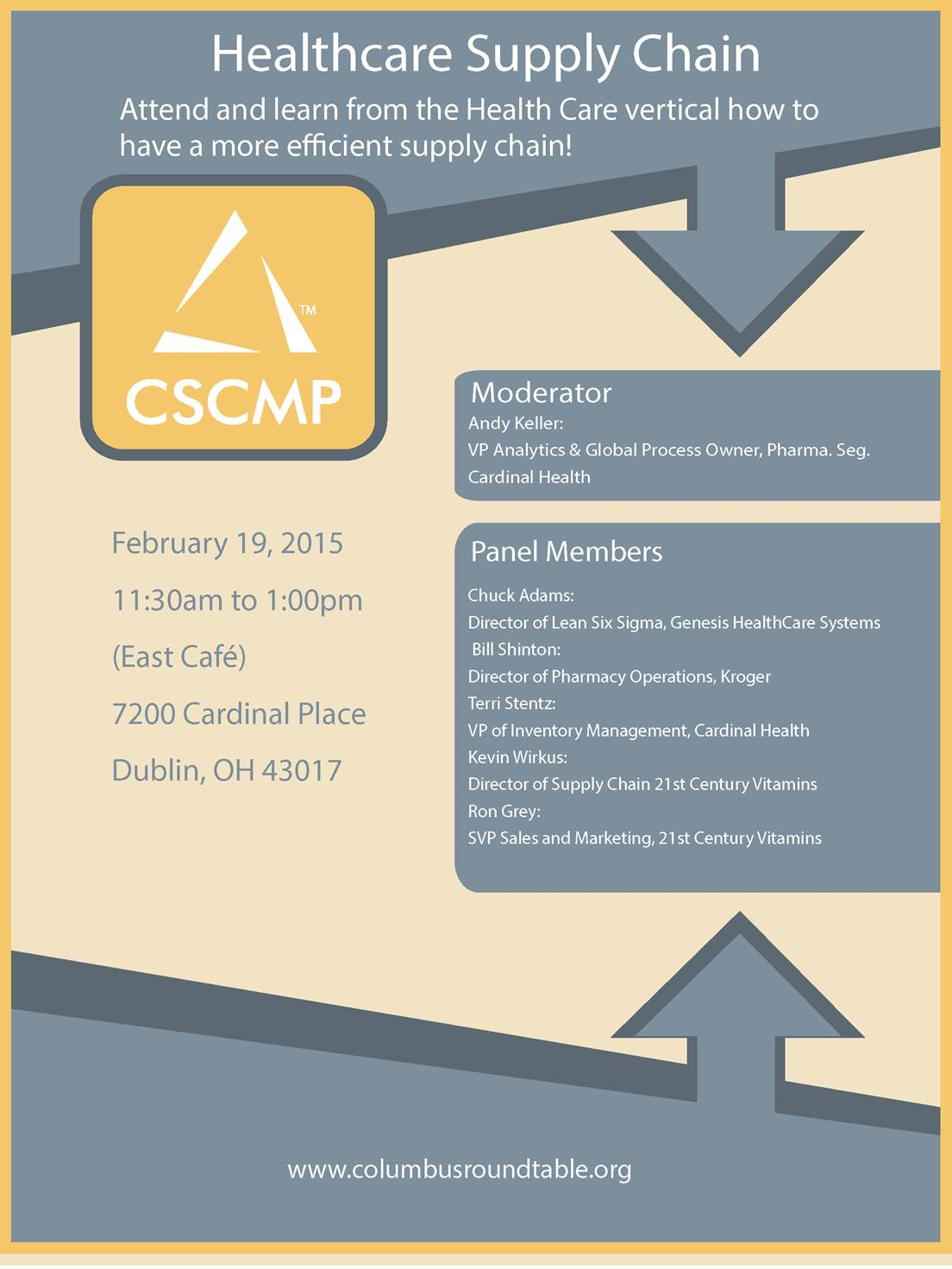 Healthcare Supply Chain Cscmp Columbus Rountdable Council Of
